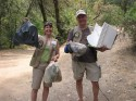 Even though River Ambassadors focus on education, we still pack out trash and dog waste when we see it!