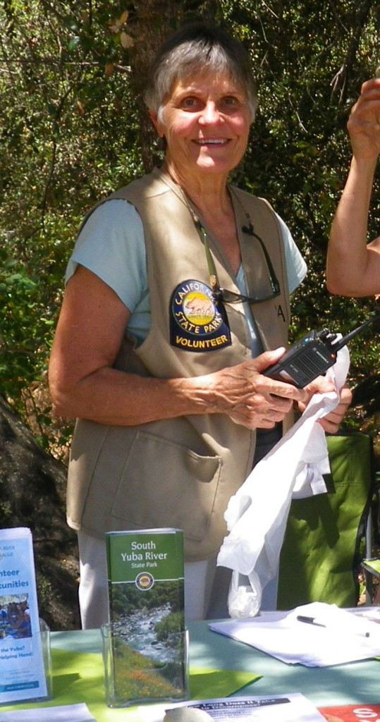 Lucetta Swift, volunteering as a River Ambassador, 2013