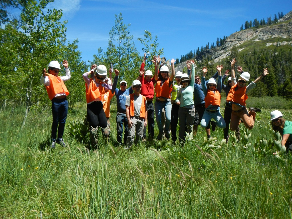 SYRCL volunteers are enthusiastic about restoring our aspens!