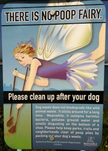 This Santa Cruz sign inspired BYLTs and SYRCLs art-contest to convey the importance of picking up dog waste.