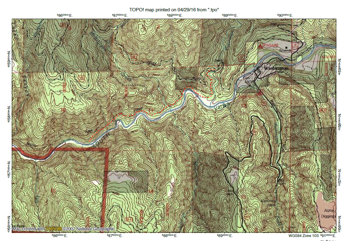 Poorman Creek & South Yuba Trail Topo